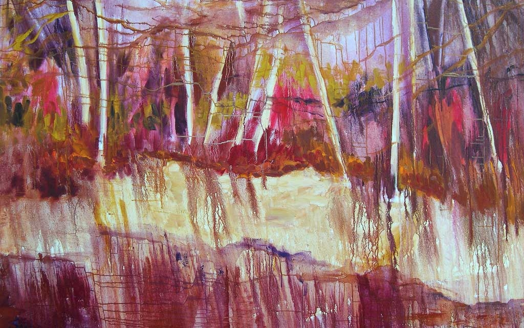 Wetlands , 46 x 58, oil painting by Susan Falk