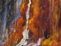 Rock water # 1, 70 x 48, oil painting by Susan Falk